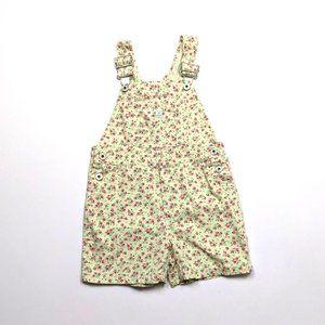Vintage Gap Floral Shortalls Sz 4-5T